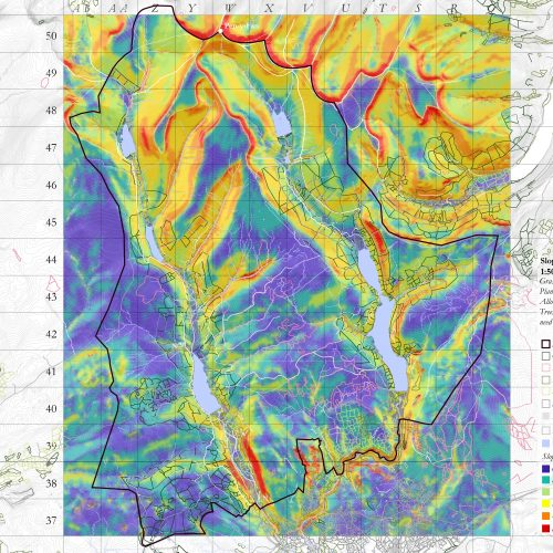 Gradient Slope Analysis Taff Catchment Area in the Brecon Beacons National Park.