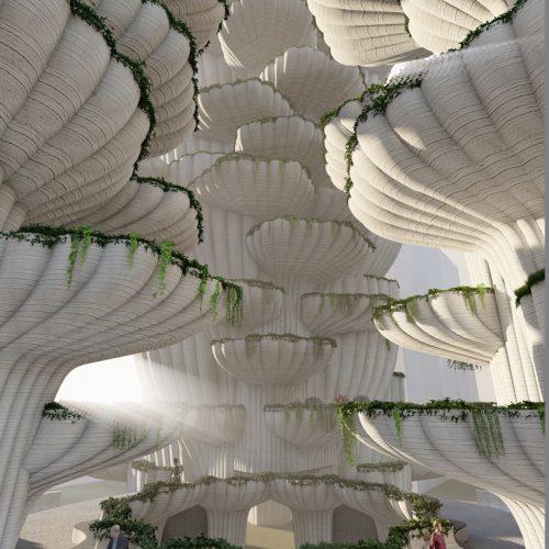 Grove Garden Dwellings: Central Atrium Overview