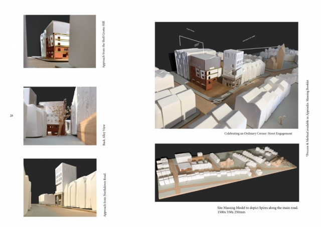 1:200 site model and final massing