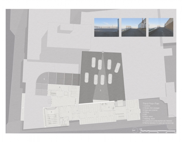 Third Floor Plan with car park and Film storage