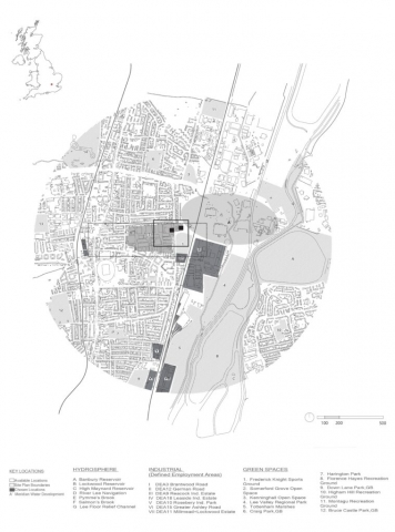 a map illustrating the position of the site within the wider tottenham area
