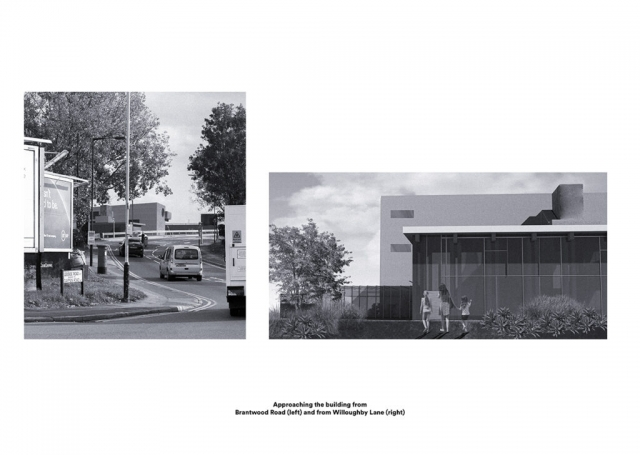 renders showing the building from different points
