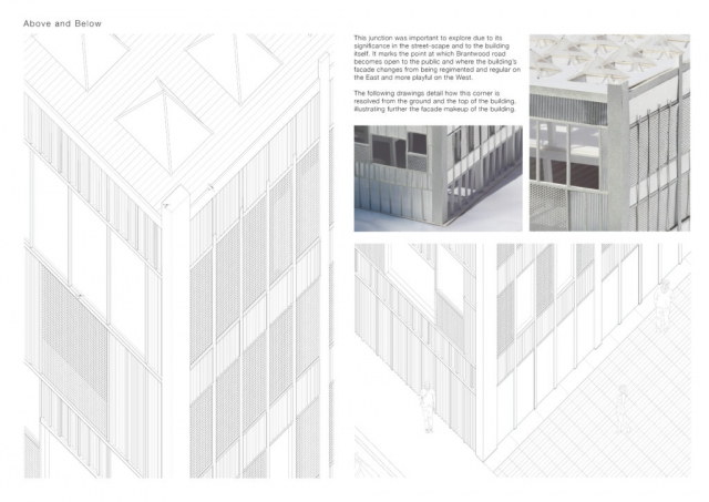 this page shows detailed cad drawings of the metal expression, this is accompanied by images of the physical model