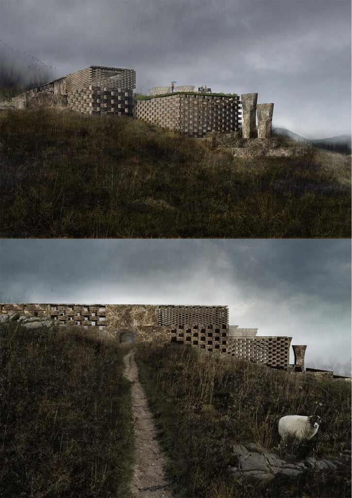These perspective views show how the proposal sits within the landscape.