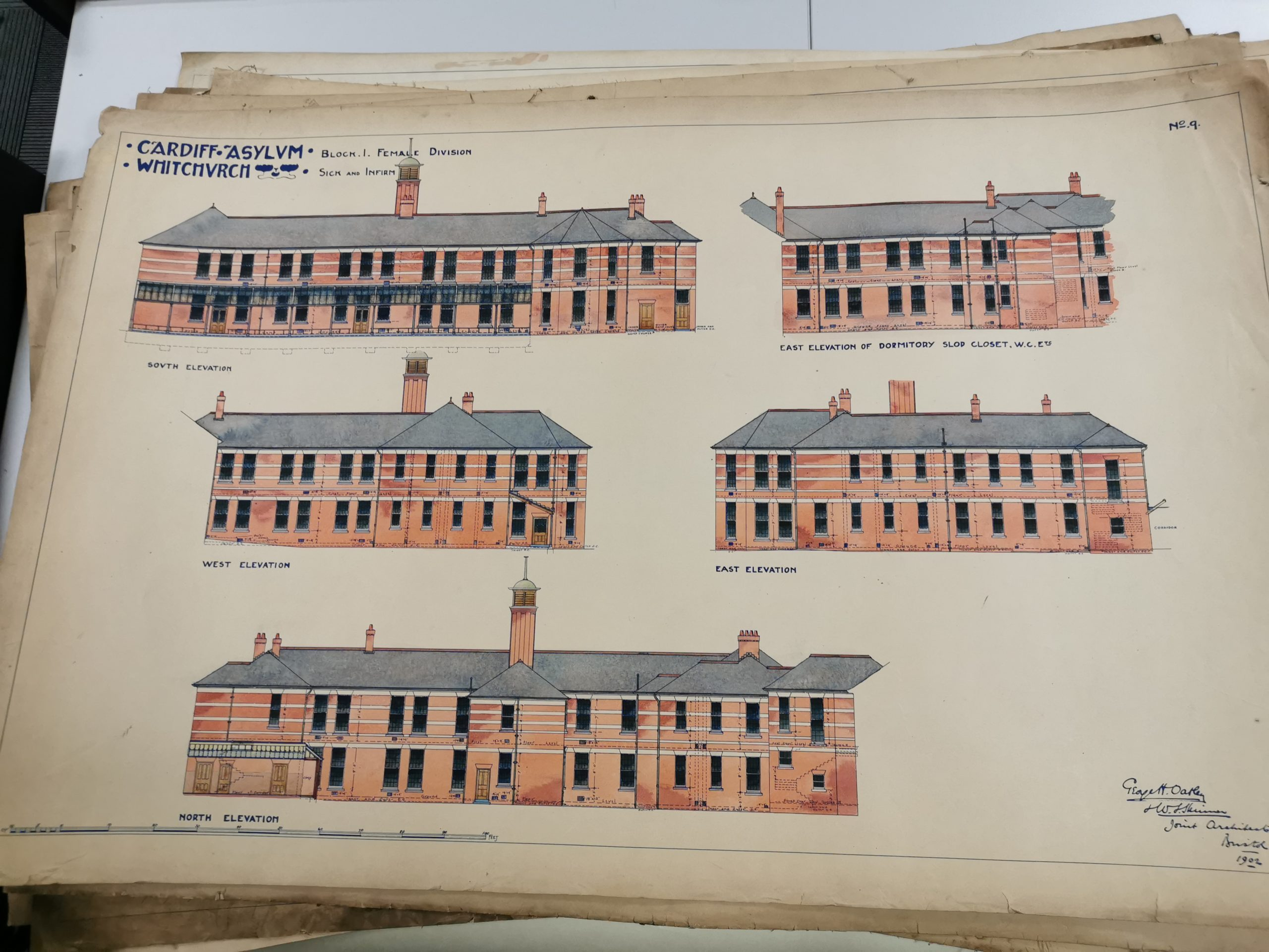 Original elevations of Whitchurch Hospital
