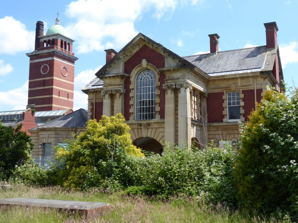 Front elevation of Whitchurch Hospital