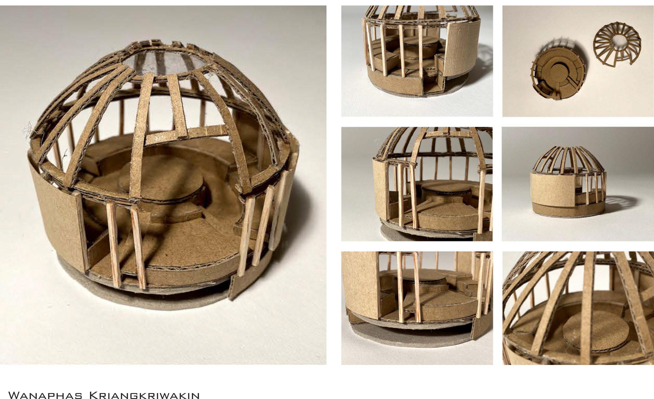 Model of musician's creative shelter