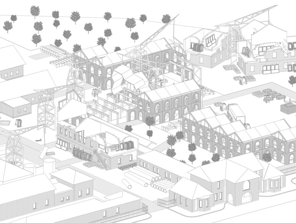 An Overview of Fabrication Process as an axonometric drawing.