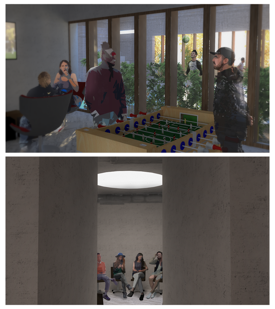 Social lounge and Open group sessions