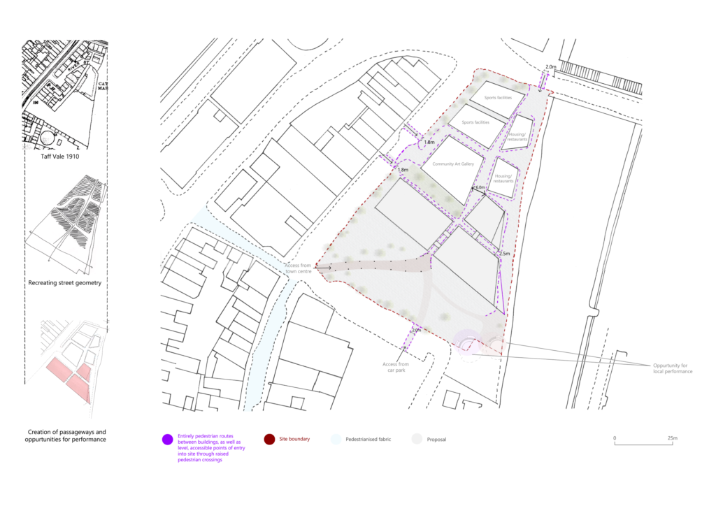 Image showing a site plan and proposed changes