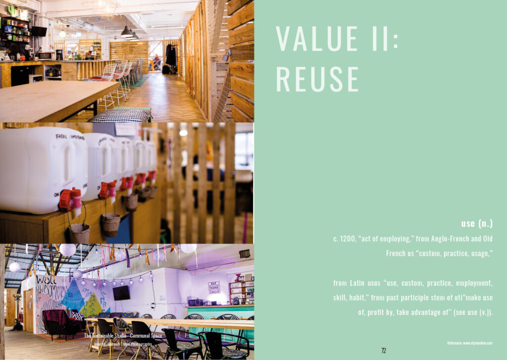 Value 2: Reuse Followed by the etymology of the word use
