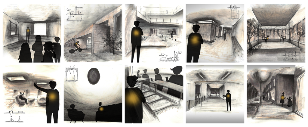 User x concept visualisation (Storyboard)