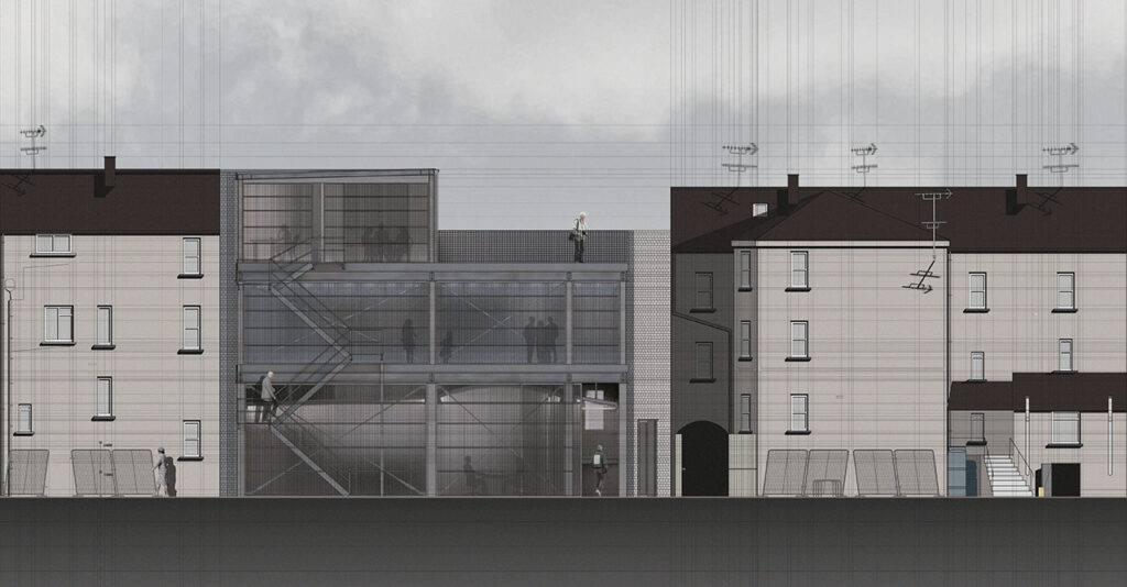 Back Street Elevation of the Clones Centre for Alternative Heritage