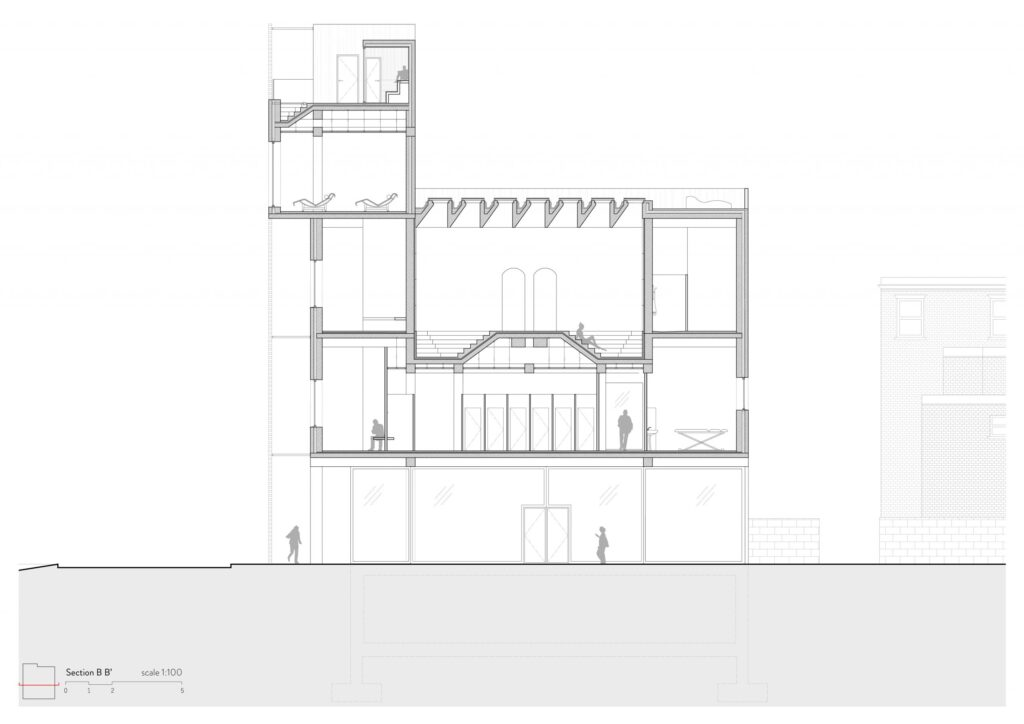 Section through back alley