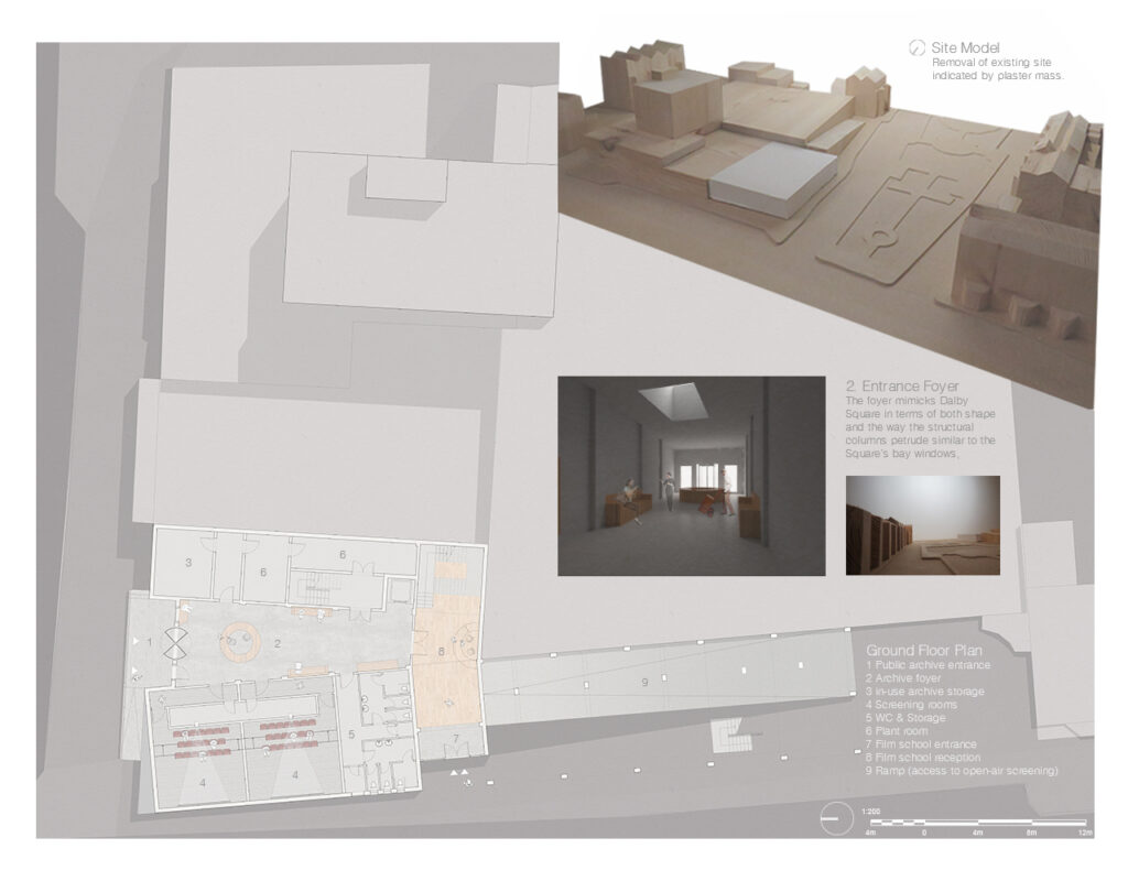 Site Model and ground floor- entrance foyer