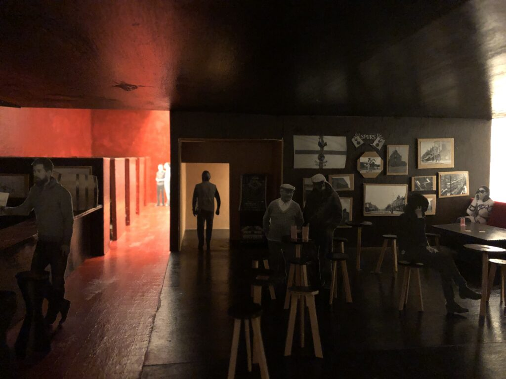 a model which illustrates the atmospheric nature of the pub