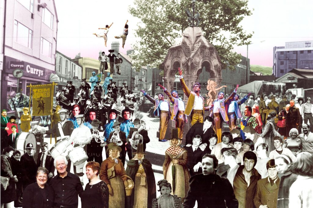 Image of a collage of pontypridd town by Julia Garnelo Gutierrez