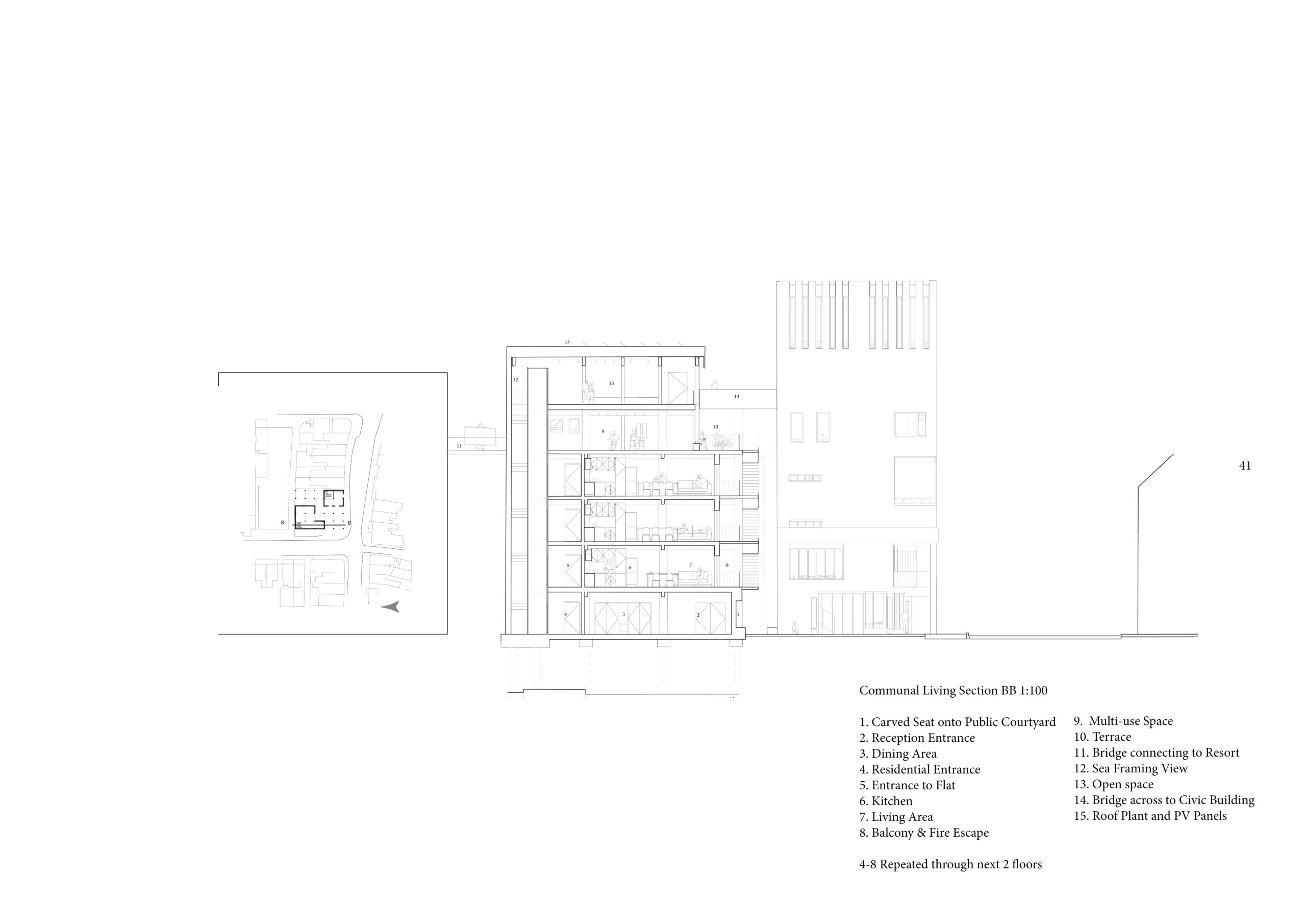 Residential building section
