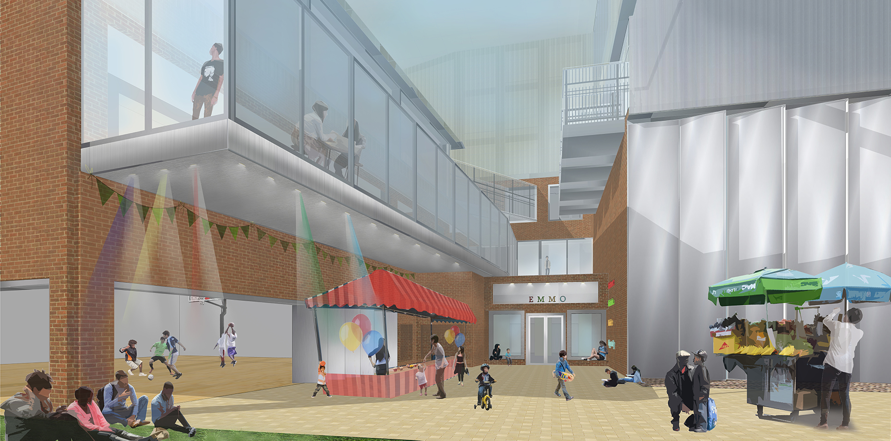 The internal streetscape of the Youth Centre