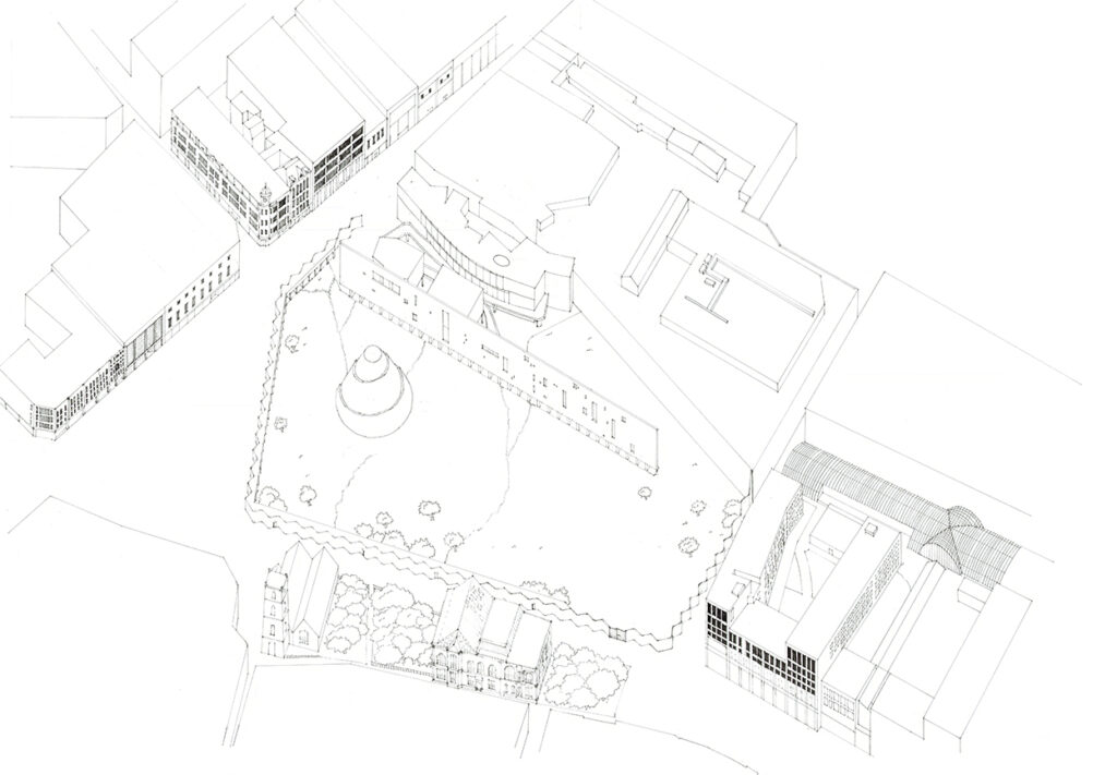 1:500 Axonometric view of the proposed space