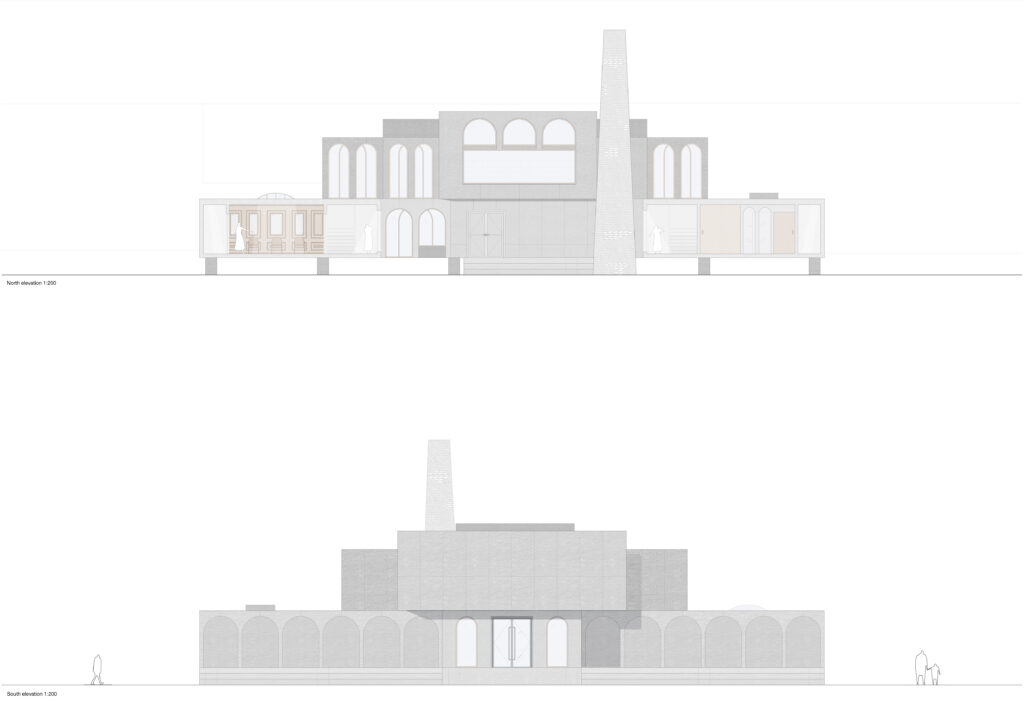 North and South elevations