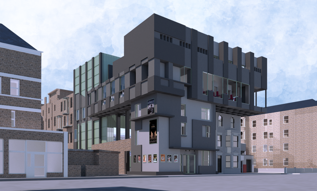 Dalby Street view of the scheme.