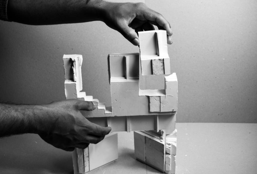 Plaster model assembling